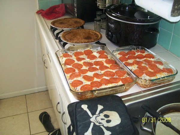 Pizza Baked Spaghetti Recipe