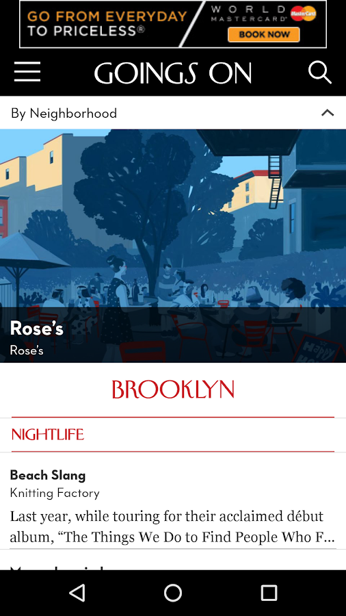 Goings On: The New Yorker- screenshot