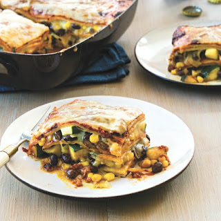 Late-Summer Vegetable Enchilada Pie