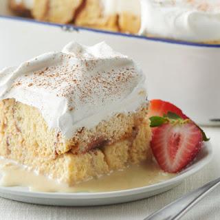 Overnight Cinnamon Roll Tres Leches Cake.