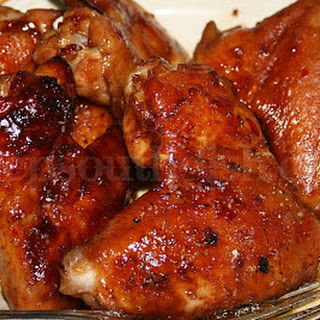 Sticky Sweet and Spicy Asian Style Oven Baked Wings.