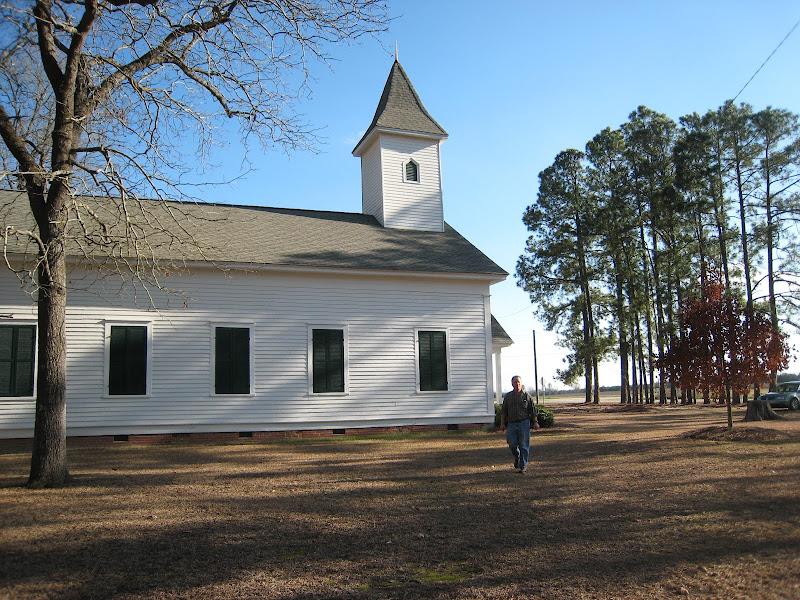 Photo: a historical church somewhere in North Carolina, I think