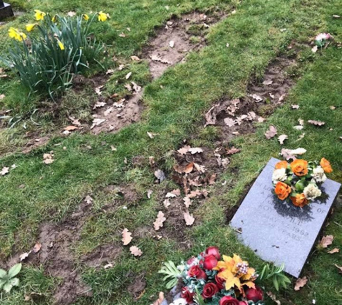 Apology over damaged graves