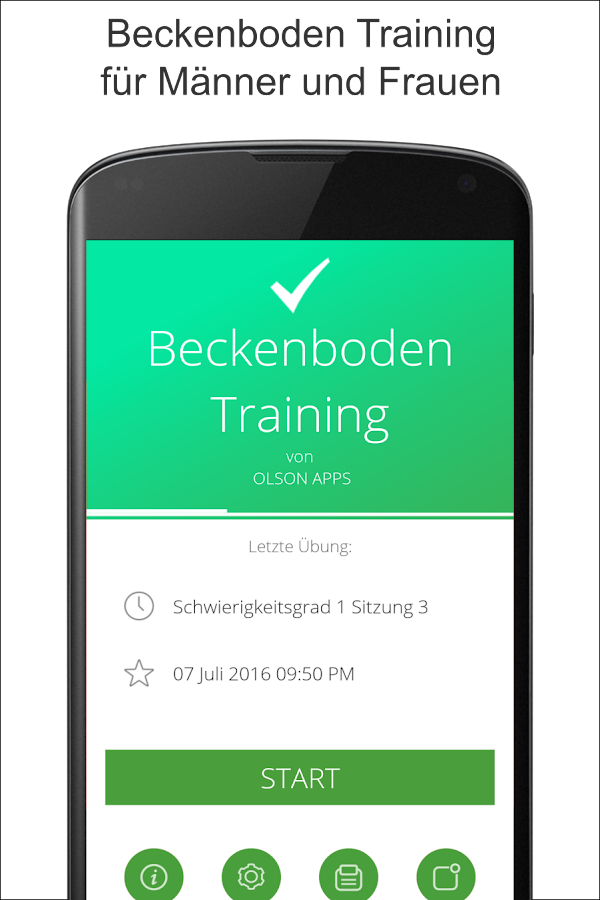 Beckenboden Training - Kegel – Screenshot