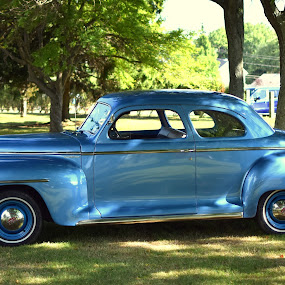 Plymouth by Steve Hayes - Transportation Automobiles ( car, sedan, blue, automobile, plymouth )