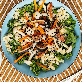 Pickled Mushroom and Miso Brown Rice Salad