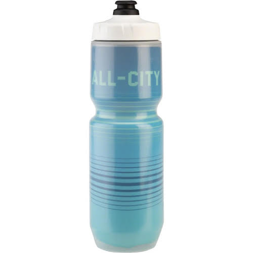 All-City Insulated Purist Water Bottle: 23oz, Bright Lines