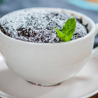 Chocolate Brownie In A Mug.