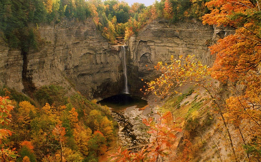 Taughannock Falls by Steve Adams - Landscapes Mountains & Hills ( taughannock falls, falls, taughannock, new york state, water fall, usa )