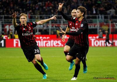 Manuel Locatelli van AC Milan zat ei zo na bij Arsenal