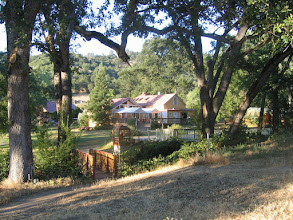 Photo: Yoga Farm, CA - view to main house
