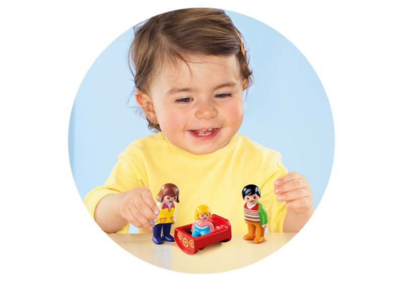 Contenido real de Playmobil® 6966 Padres con Bebé