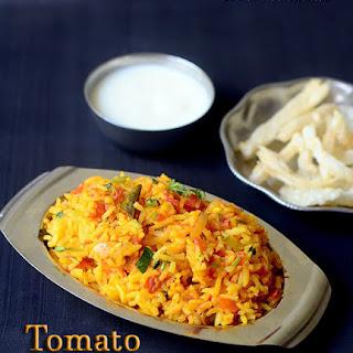 Tomato Rice Recipe / Thakkali Sadam Recipe