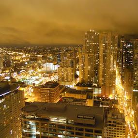 Golden Lights by Christopher Kenney - City,  Street & Park  Skylines