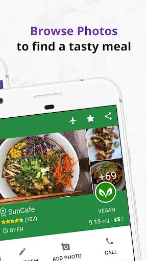 Find Vegan Restaurants & Vegetarian Food- HappyCow 62.0.26-free-v2 screenshots 5