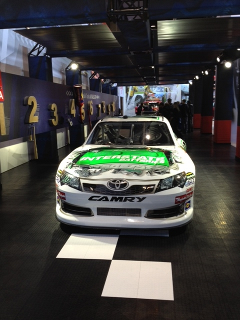 Photo: For all the NASCAR fans out there, a Kyle Busch #18 Interstate Batteries stock car.
