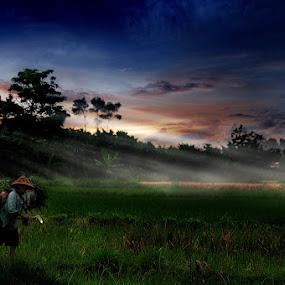 return work by Yanuar Nurdiyanto - Digital Art People ( woman, indonesia, sunset, landscape, nikon, women, photography )