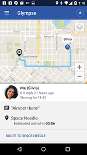 Glympse - Share GPS location- screenshot thumbnail