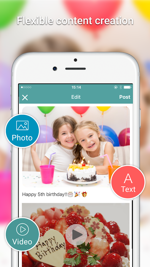 Wepage - Share photos & videos- screenshot