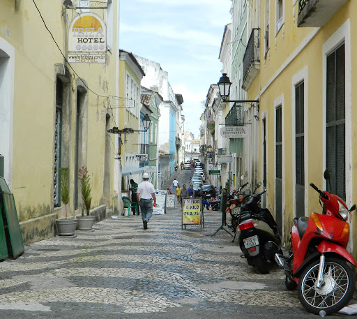 alleyway.jpg - Narrow streets with the same decorative stones as beaches in Rio.