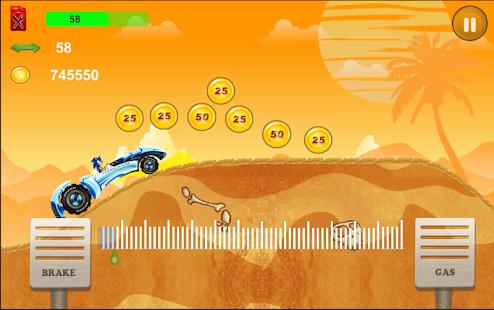 Sonic Hill Climb Car Racing - náhled