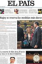 """Photo: Hoy en portada, """"Rajoy se reserva las medidas más duras"""" y """"La muerte de Kim Jong-il sume a Asia en la incertidumbre"""": http://www.elpais.com/static/misc/portada20111220.pdf"""