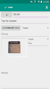 ExpenseClam expenses & mileage- screenshot thumbnail
