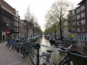 Photo: Bicycles are parked EVERYWHERE