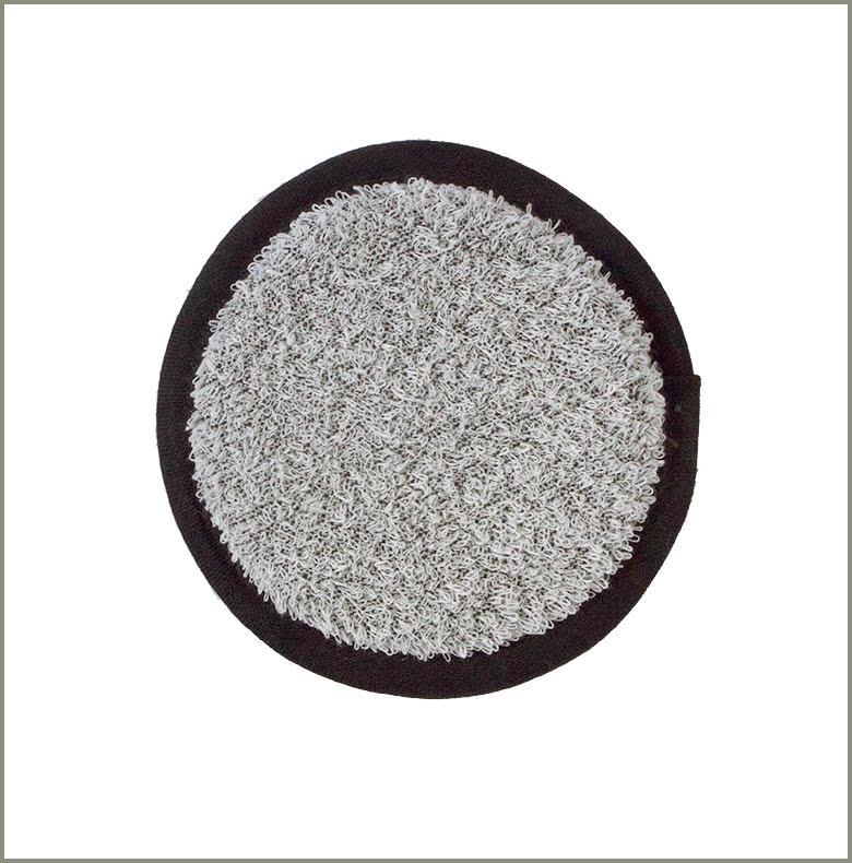 Pad Linnefrotté vit-svart 14 cm