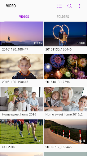 Samsung Video Library Android App Screenshot