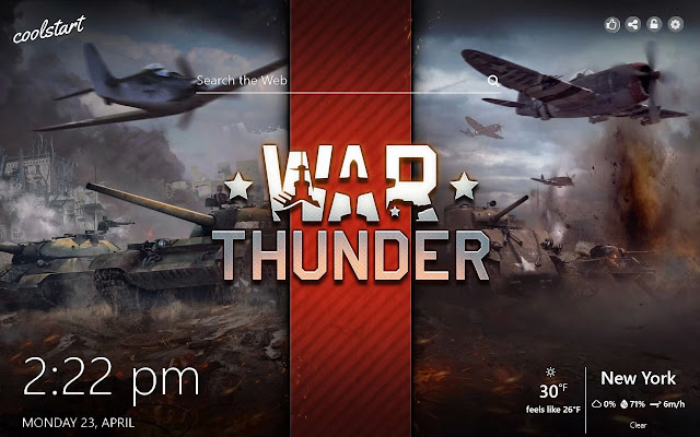 War Thunder HD Wallpapers Games New Tab Theme
