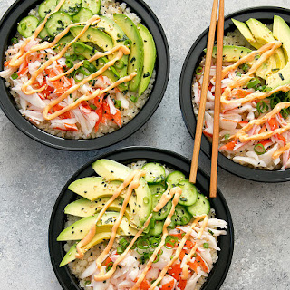 California Sushi Roll Bowls with Cauliflower Rice Meal Prep Recipe