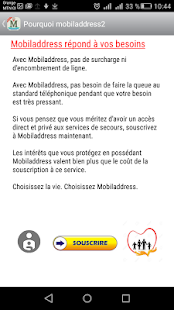 Mobiladdress Alerte Secours - náhled
