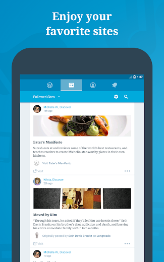 Screenshot 10 for WordPress's Android app'