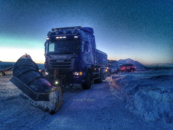 Photo: The way back with the convoy