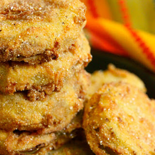 The BEST Fried Green Tomatoes with Garlic and Buttermilk Sauce.