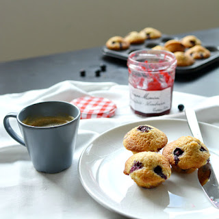 Brown Butter and Blueberry Mini Muffins