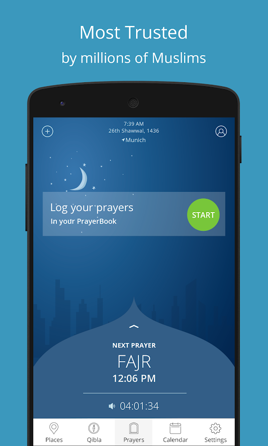 Athan - Prayer times and Qibla- screenshot