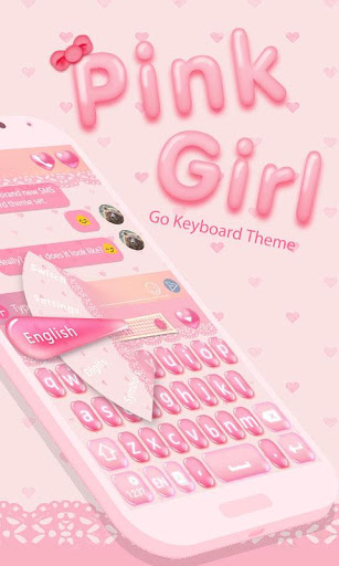 Pink Girl Keyboard Theme