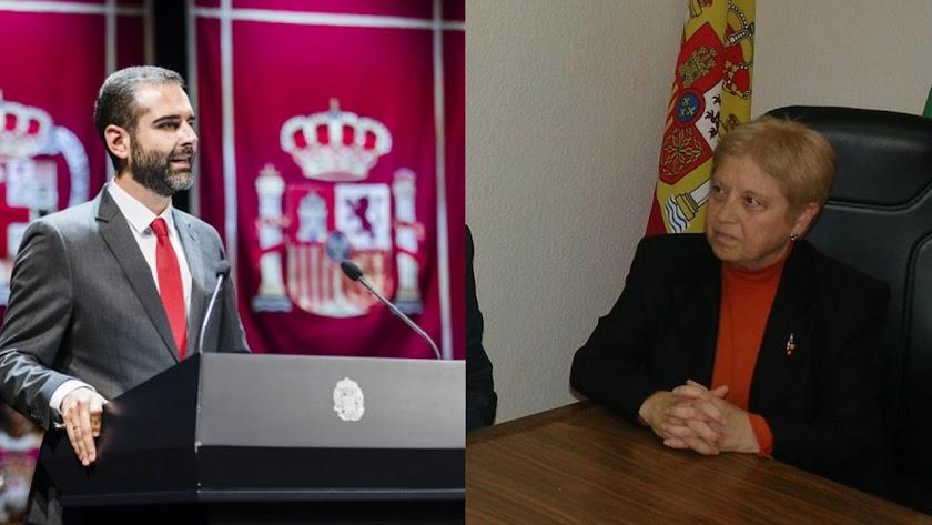 Pacheco y Mirallas, alcaldes de Almería y Bayarque en 2018.