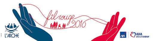 Logo fil rouge 2016 AXA atout Cœur et L'Arche