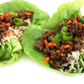 Skinny Korean Beef Lettuce Cups