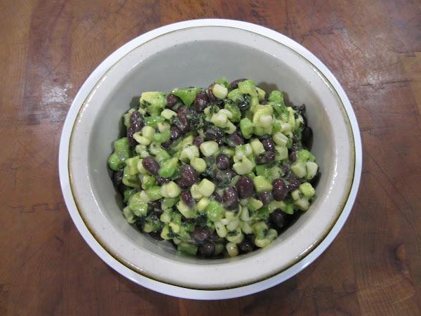 Black Bean, White Corn, Avocado Guacamole Recipe