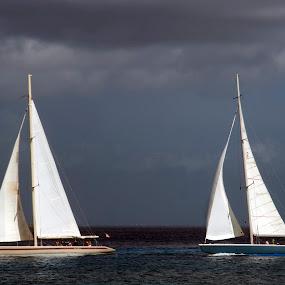 Boats at Cozumel by Cristobal Garciaferro Rubio - Transportation Boats ( water, mexico, cozumel, boats, sea, boat )