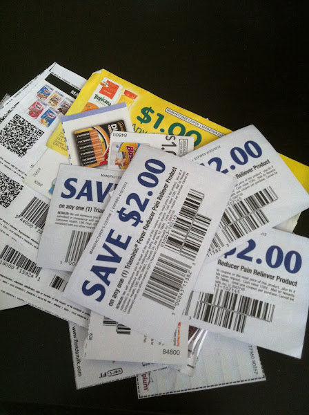 Photo: grabbed the coupons I had at home but I hope to find All You magazine which has even more coupons