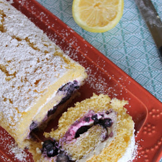 Lemon and Blueberry Roulade