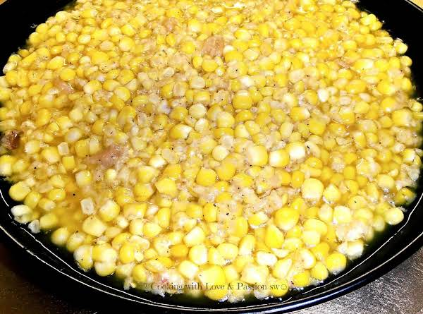 My Grandma Logan's & James's Fried Corn Recipe