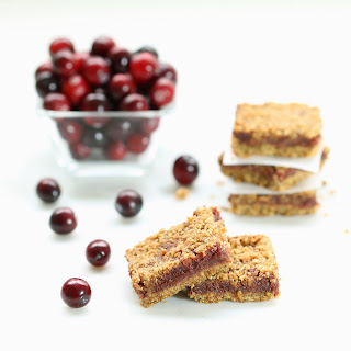 Fresh Cranberry Crumb Bars (Gluten-Free, Vegan / Plant-Based, Refined Sugar-Free)