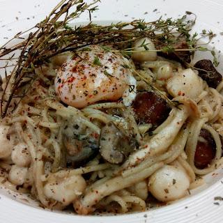 Spaghetti With Mushroom Cream Sauce