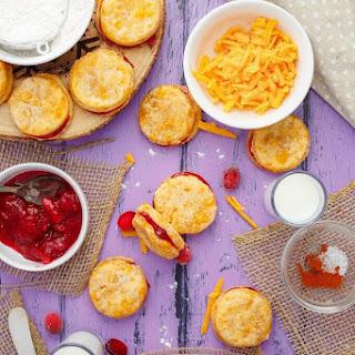 Cheesy Leftover Cranberry Sauce Cookies.